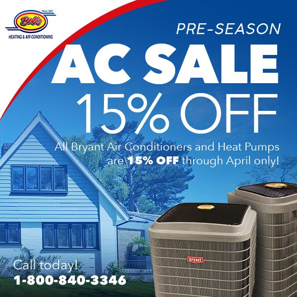 15 Off Air Conditioners Now Bob S Heating Air Conditioner