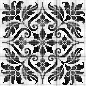 Square 29 | Free chart for cross-stitch, filet crochet | Chart for pattern - Gráfico