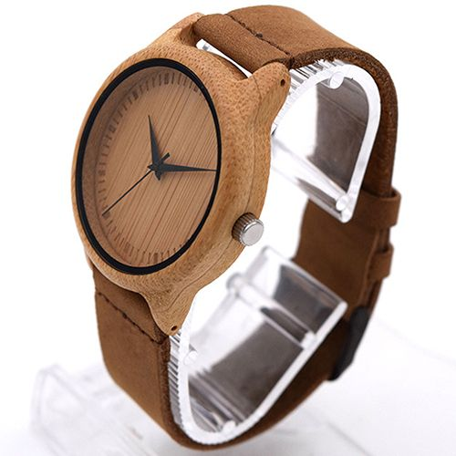2016 Nieuwe Aankomst vrouwen mannen Retro Lederen Band Houten Case Quartz Horloge Gift 81WG166(China (Mainland))