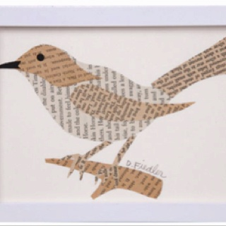 paper bird from book pages