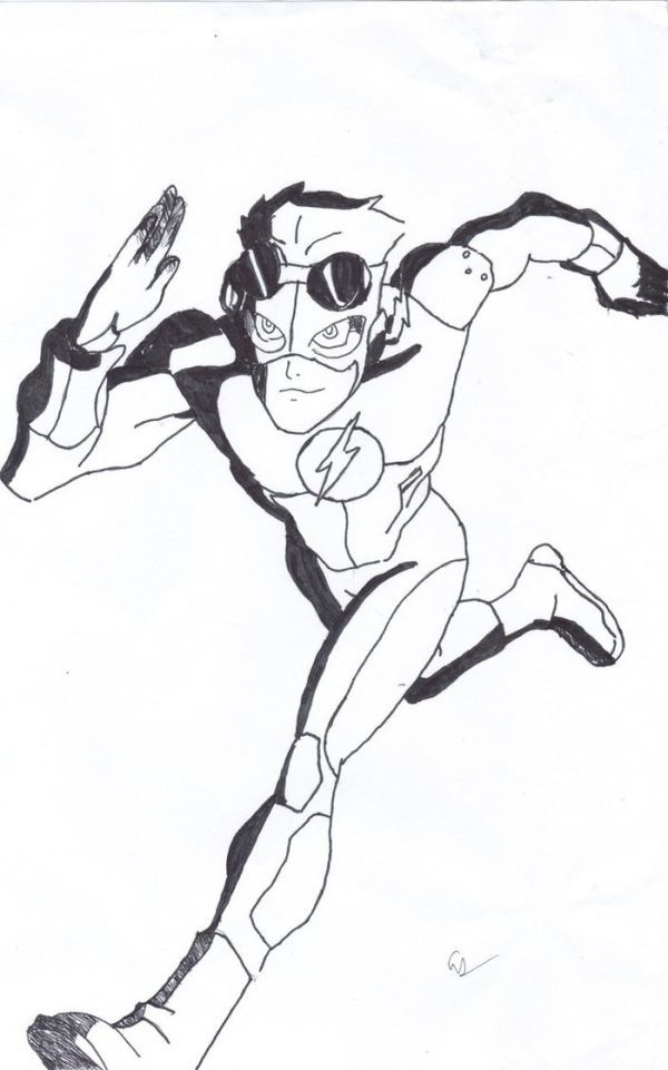 The Flash Coloring Pages Collection Kid Flash Superhero
