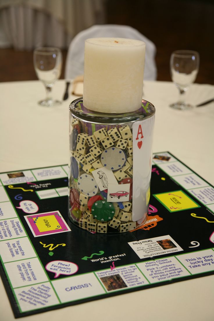 Best images about game centerpieces on pinterest