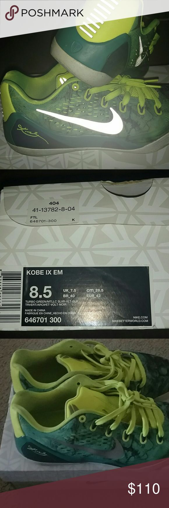 Kobe 9 EM Size 8.5  Great condition Comes with original box Price negotiable Comment if any questions here to help Nike Shoes Sneakers