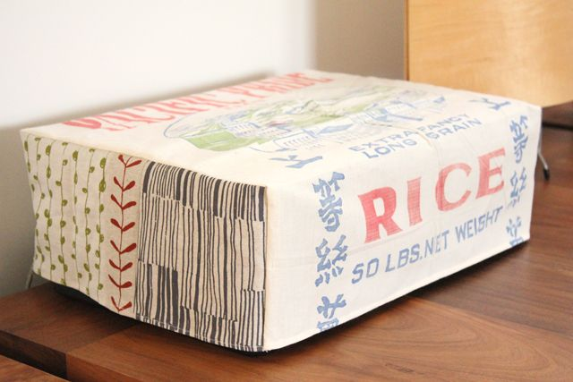 Cover your ugly printer with a vintage sack