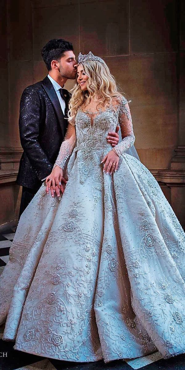 223 best Ball Gown & A-line Wedding Dresses images on Pinterest ...