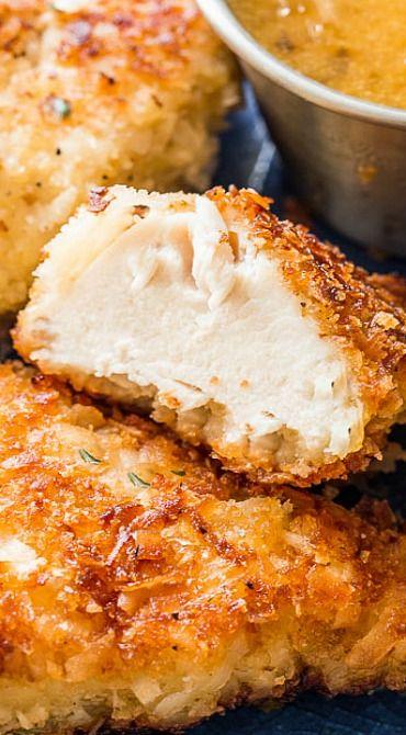Crispy Coconut Chicken with Spicy Honey Orange Sauce - little bites, appetizers, snacks