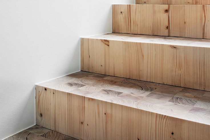 Wooden staircase.