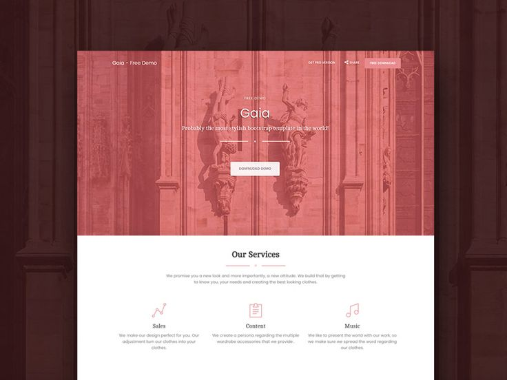 Gaia is a FREE multi-page Bootstrap template designed to be stylish and easy to use.