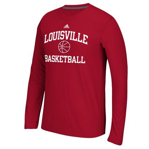 Adidas™ Men's University of Louisville Basketball Ultimate Long Sleeve T-shirt
