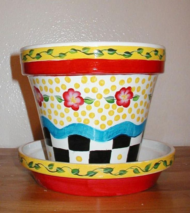 25 Simple Easy Flower Pot Painting Ideas | Clay flower ... - photo#50