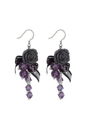 Gothic Rose Earrings - Earrings