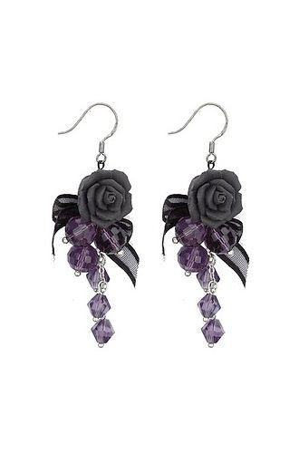 Gothic Rose Earrings - Earrings