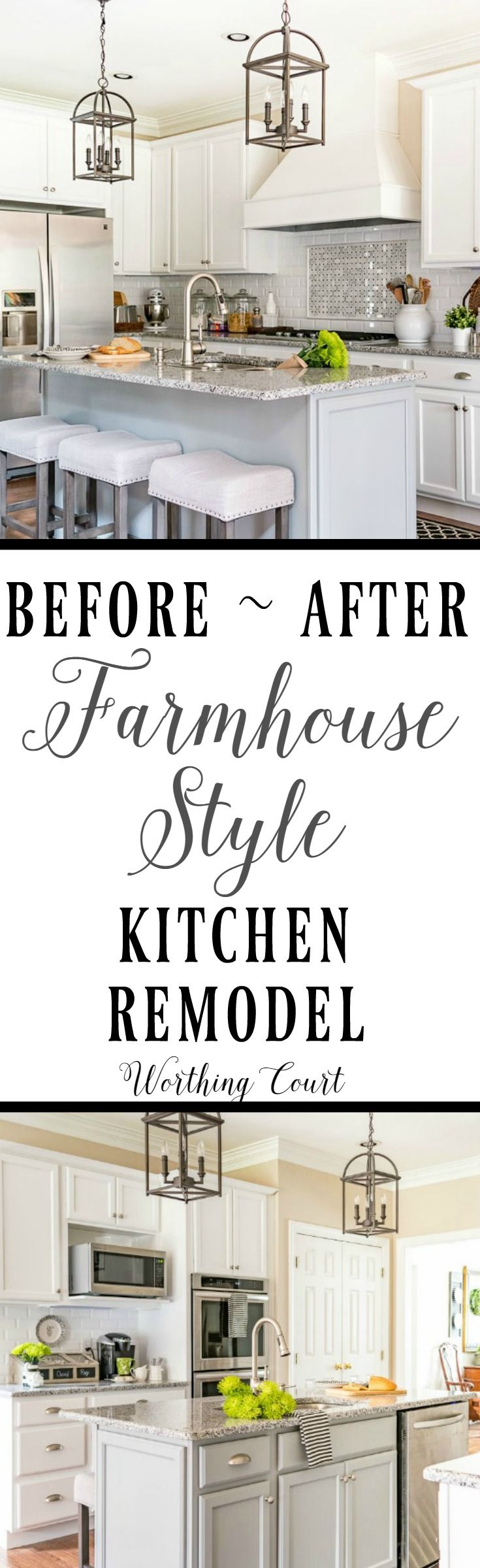 Before and After Farmhouse Style Kitchen Remodel    Worthing Court