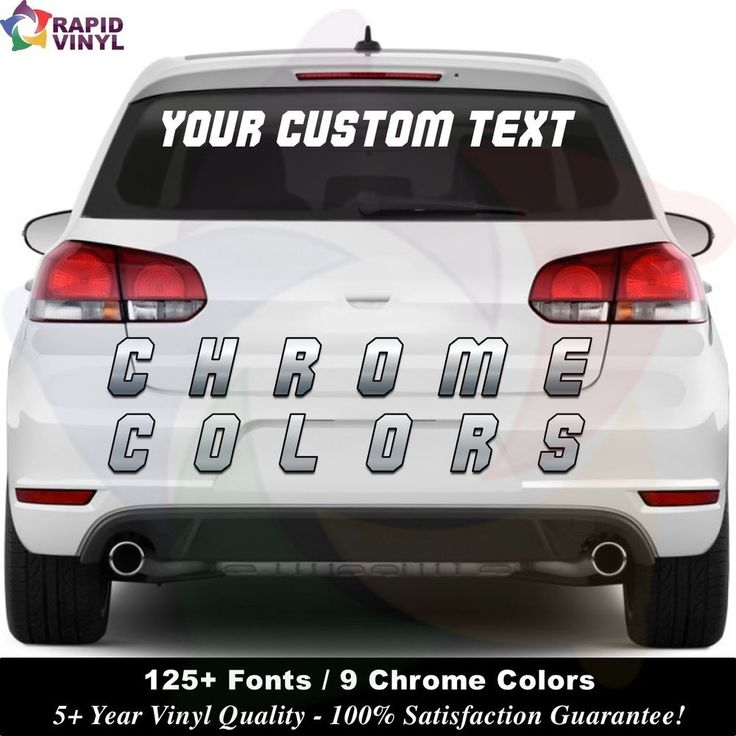 chrome personalized custom 4 x 30 window car sticker vinyl text lettering decals multipleyouchoose