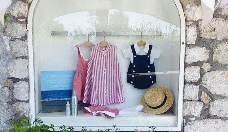 Red and Blue (as our city) #miniludo #capri #babyshop #genova #ecochic #luxury #italianbrand #kids #kidsfashion #summermood #summertime #summerishere
