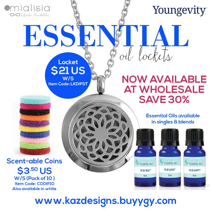 Essential Oil Lockets Now Available at Wholesale Save 30%
