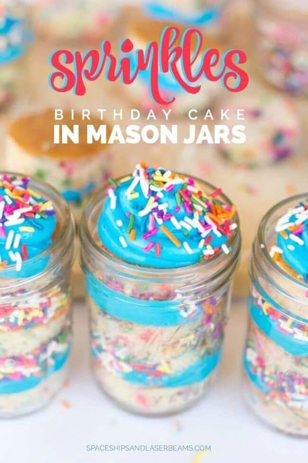 Amazing Sprinkles Birthday Cake In Mason Jars With Images Mason Jar Funny Birthday Cards Online Fluifree Goldxyz