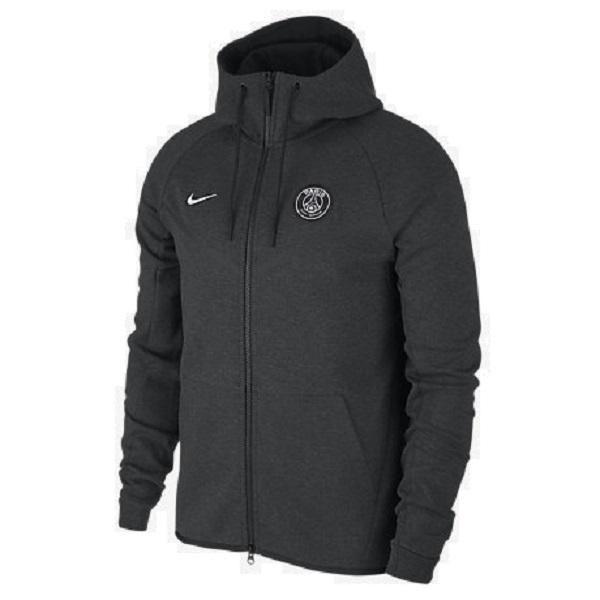 Nike PSG Tech Fleece Windrunner Jacket (Black Heather)
