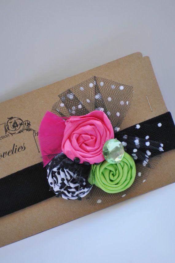 stretch rosette headband.  LOVE!