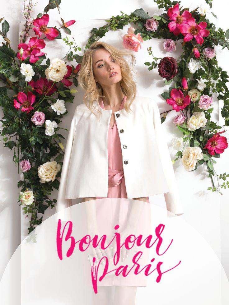 Bonjour Paris! Paryski styl, paryski szyk Top Secret, Parisian Chic, biały żakiet