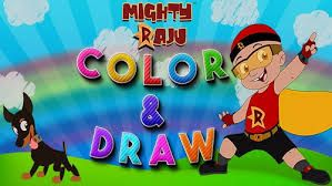 Mighty Raju Colouring Games For Kids | Color Fill Play it now at MightyRaju.com