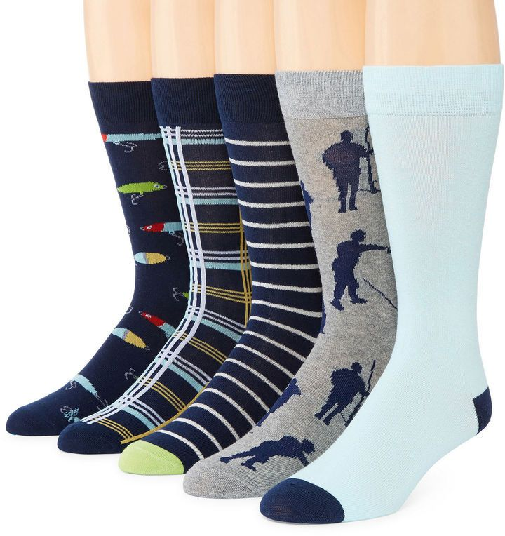 STAFFORD Stafford Mens 5-pk. Cotton-Rich Crew Socks - Big & Tall