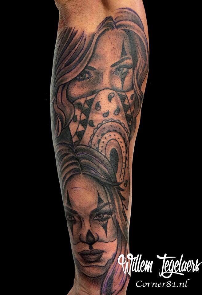 Chicano sleeve in progress | Tattoo shop Corner 81 ...