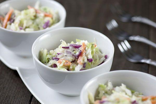Sweet Restaurant Coleslaw | Inspiration Kitchen #coleslaw #salad #picnic #kfc #sidedish