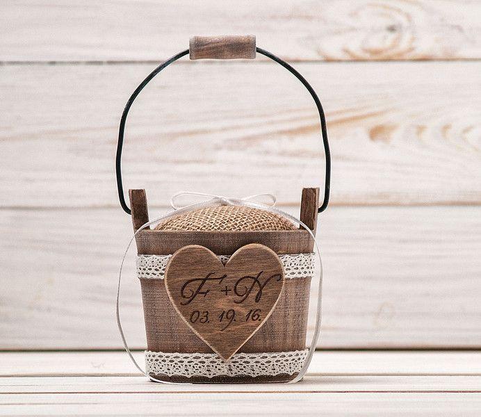 Ringkissen - Ringschatulle, Ringschachtel, Hochzeit Ring Box - ein Designerstück von InesesWeddingGallery bei DaWanda