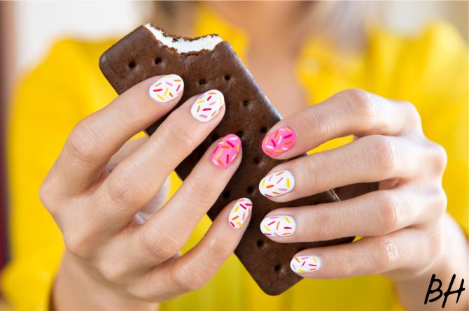 How To Get This Delicious Sprinkle Nail Art | Beauty High