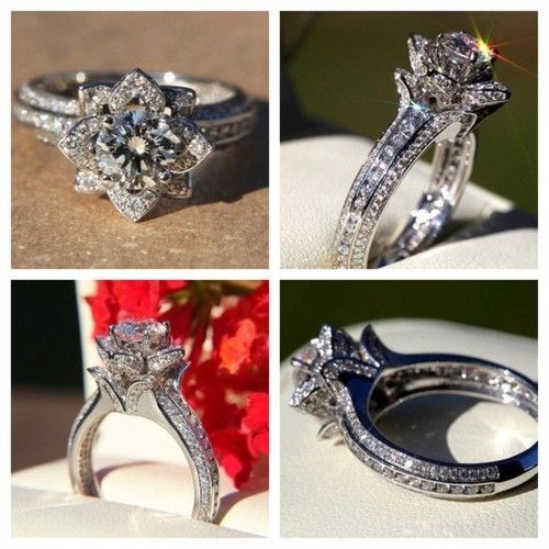 Flower Dimond ring