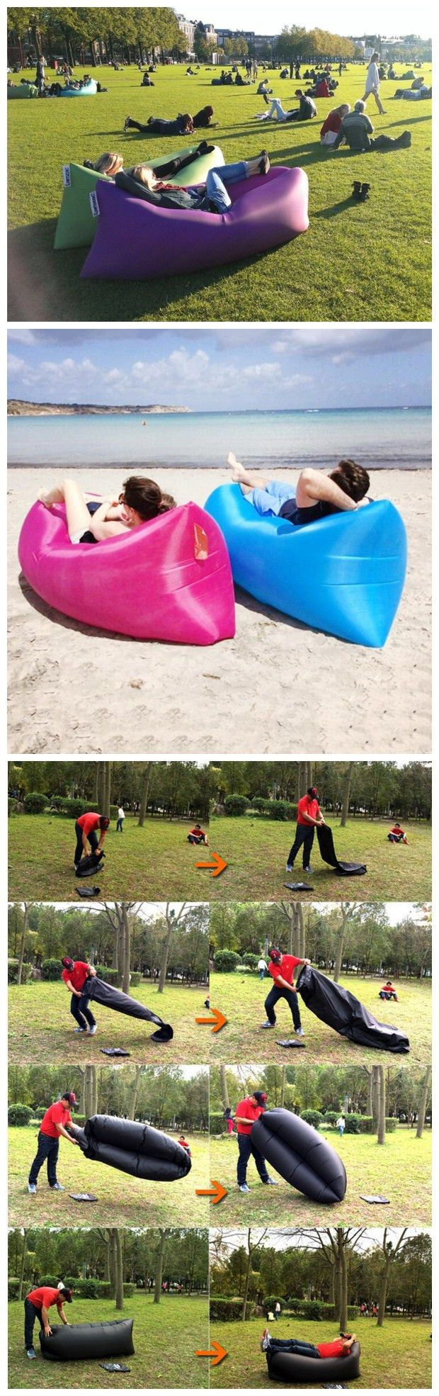 Sleeping bag suit moreover blow up air mattress as well bed inflatable - Travel Beach Lazy Sofa Fast Air Inflatable Sleeping Bed Lounger Camping Lay Bag Recliner