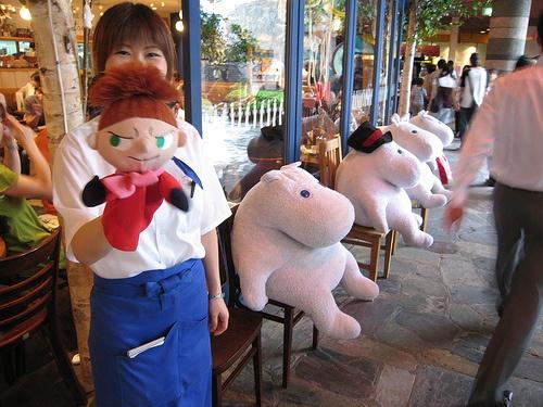 Moomin café in Fukuoka