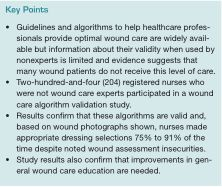 A Cross-sectional Study to Validate Wound Care Algorithms for Use by Registered Nurses   Ostomy Wound Management
