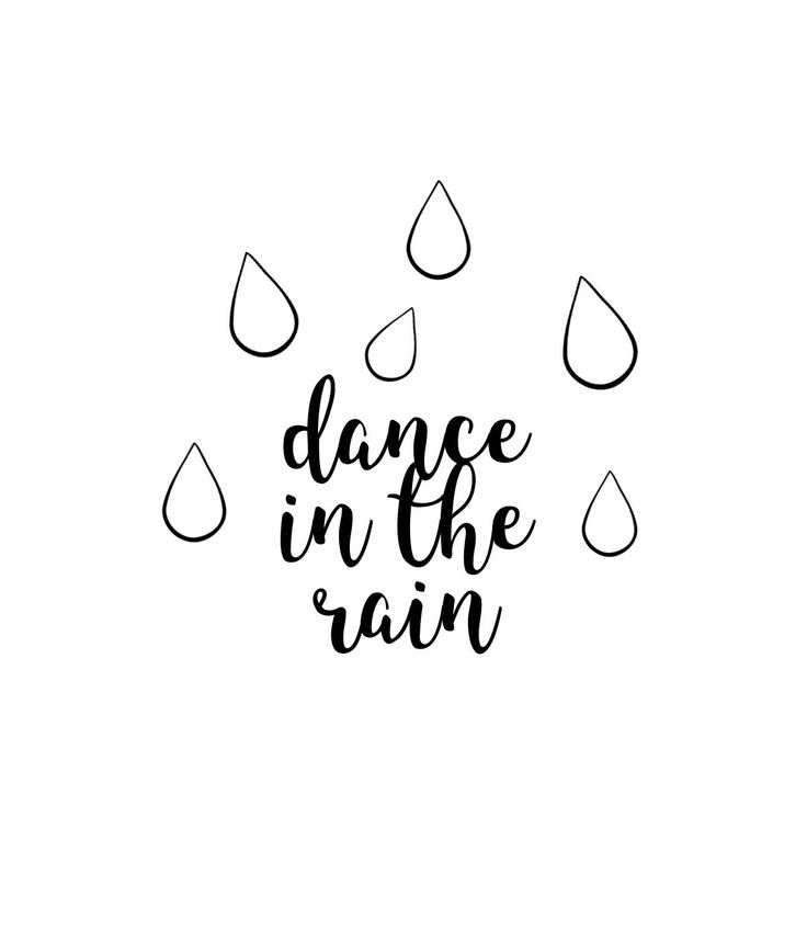 dance in the rain || lettering