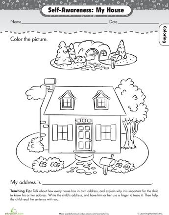 preschool family themed coloring pages - photo#36