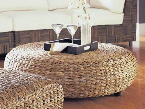 Oversized Rattan Coffee Table