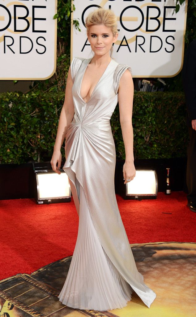 Kate Mara from 2014 Golden Globes: Red Carpet Arrivals | J. Mendel | Eiseman Style | Red Carpet