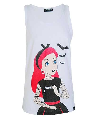 Darkside White Alice in Wonderland Tattoo Vest from Just a Touch of Everything