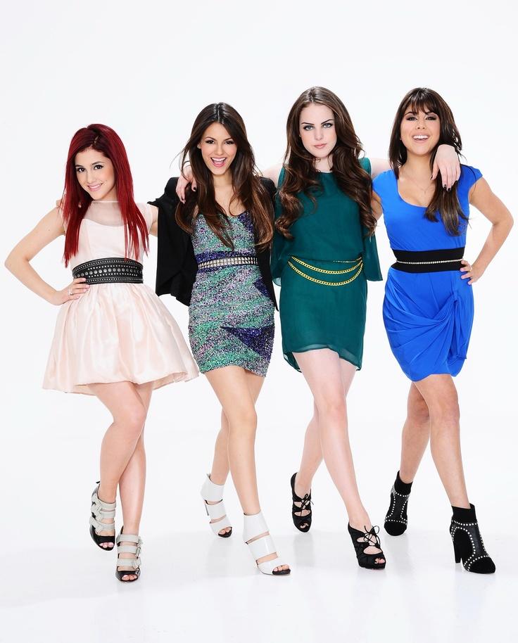 Ariana Grande, Victoria Justice, Daniella Monet and Elizabeth Gillies