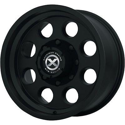 17x8 Black American Racing ATX Mojave II AX199 5x5.5 0 Wheels LT225/75R17 Tires