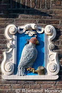 Haarlem gevelsteen Valk, Bakenessergracht