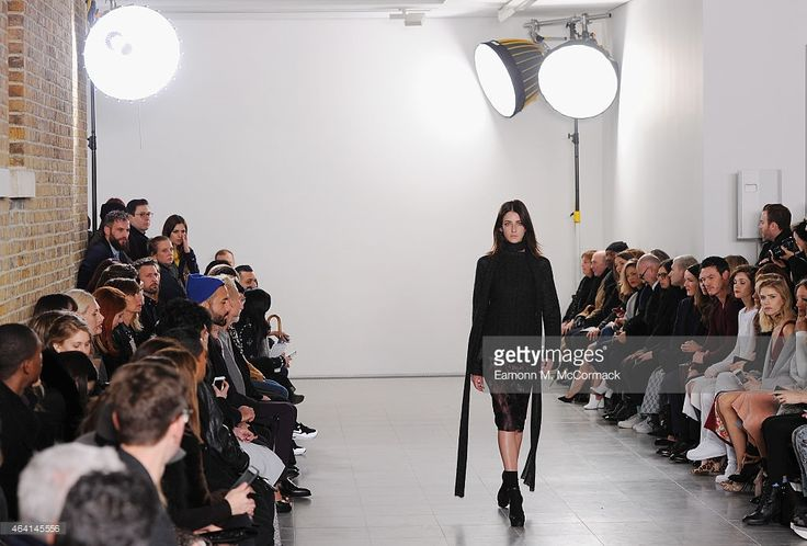 model walks the runway at the Pringle of Scotland show during London... ニュース写真   Getty Images