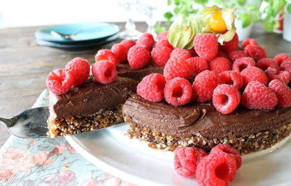 Sunn sukkerfri sjokoladekake