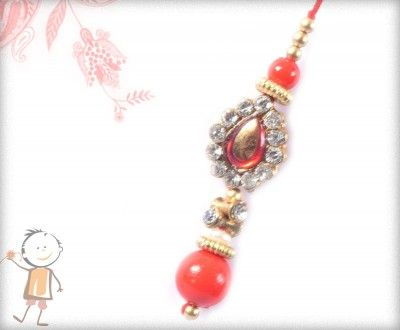 Lumba Rakhi - Send Online#Lumba #Rakhi – online rakhi. ANTIQUE DIAMOND LUMBA WITH RED BEADS, surprise your loved ones with roli chawal, chocolates and a greeting card as it is also a part of our package and that too without any extra charges. http://www.bablarakhi.com/