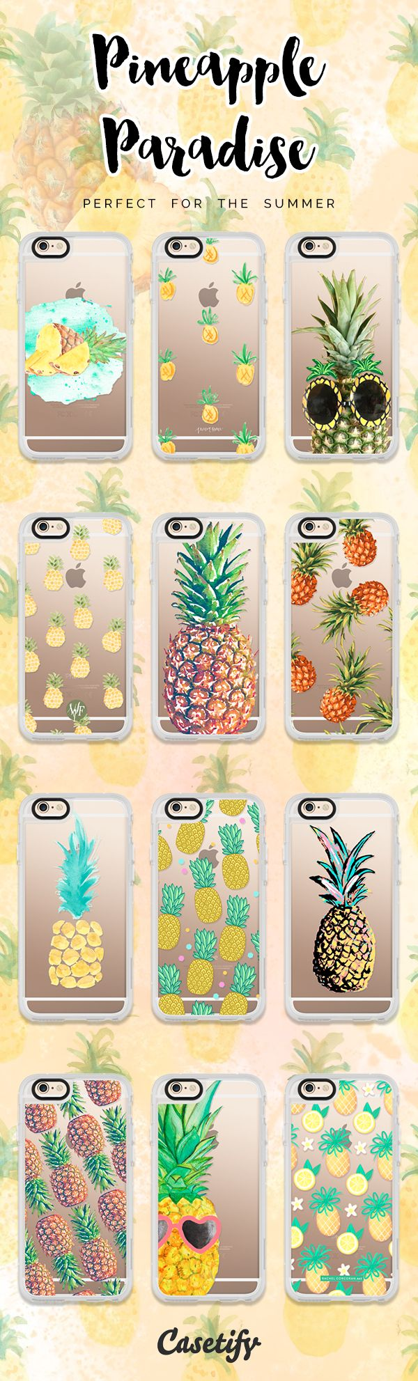 #Pineapples - perfect fruit for the summer. Click through here to shop the featured pineapple iPhone 6 cases >>> https://www.casetify.com/artworks/v5xsDHtUbl | @casetify