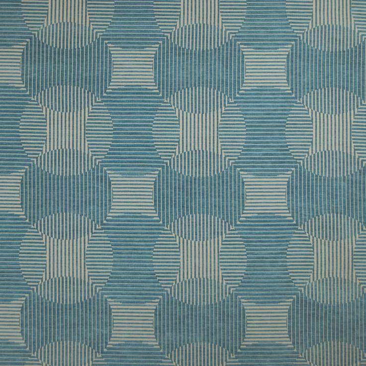 Warwick Fabrics : CIRRUS, Colour TURQUOISE