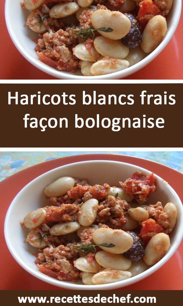 Cuisson Des Haricots Blancs Frais : cuisson, haricots, blancs, frais, Haricots, Blancs, Frais, Façon, Bolognaise, Frais,, Blancs,, Haricot