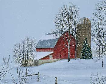 A083075098: Christmas Vacation-Barn Painting; Brandt