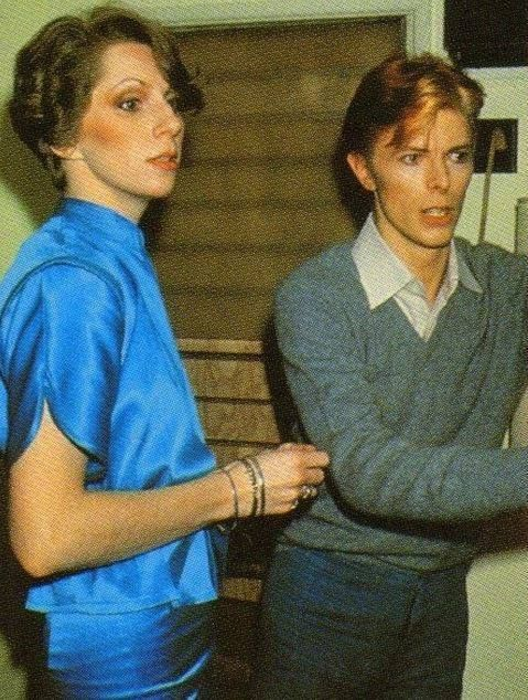 David Bowie with Angie. The first couple of glam rock<3